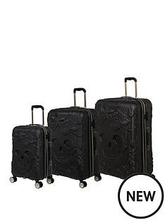 it-luggage-skulls-black-3pc-luggage-set