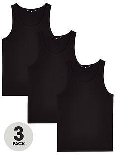 very-man-essentialsnbspvest-3-pack-black
