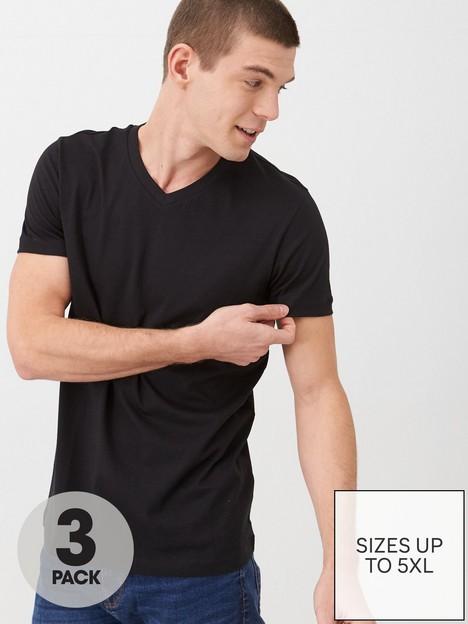 very-man-essentials-3-pack-v-neck-t-shirt-black