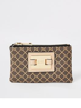 river-island-monogram-mini-pouch-purse-beige