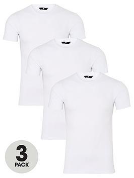 very-man-3-pack-muscle-fit-slub-t-shirt-white