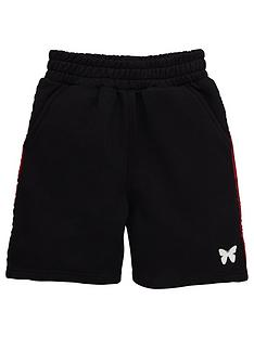 good-for-nothing-boys-taped-jog-shorts-black