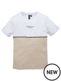 good-for-nothing-boys-colourblock-short-sleeve-t-shirt-stone