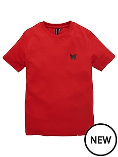 good-for-nothing-boys-taped-short-sleeve-t-shirt-red