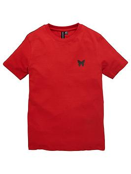 Good For Nothing Good For Nothing Boys Taped Short Sleeve T-Shirt - Red Picture