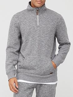 very-man-premium-zip-funnel-neck-top-grey