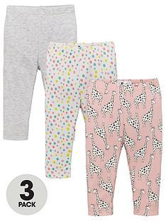 v-by-very-baby-girls-3-pack-giraffe-leggings-multi