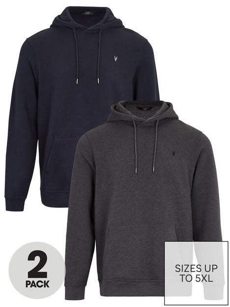 very-man-essential-2-pack-oh-hoodie-navycharcoal