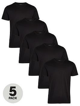 very-man-essentials-5-pack-crew-necknbspt-shirt-black