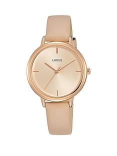 lorus-pink-leather-strap-pink-dial-womens-watch