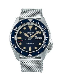 seiko-seiko-5-stainless-steel-mesh-navy-dial-bracelet-watch