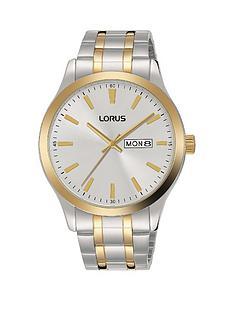 lorus-classic-bi-colour-stainless-steel-white-dial-bracelet-mensnbspwatch