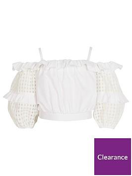river-island-girls-organza-check-sleeve-crop-blouse-white