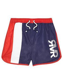 River Island River Island Boys Blocked Rvr Swim Shorts-Multi Picture