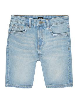 River Island River Island Boys Sid Skinny Denim Shorts-Blue Picture