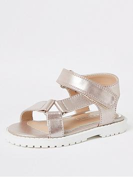 River Island Mini River Island Mini Mini Girls Velcro Strap Sandals-Pink Picture