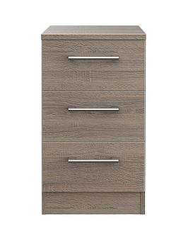 Swift Swift Halton Ready Assembled 3 Drawer Bedside Chest Picture