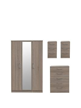 swift-halton-part-assemblednbsp4-piece-package-3-door-mirrored-wardrobe-5-drawer-chest-and-2-bedside-chests