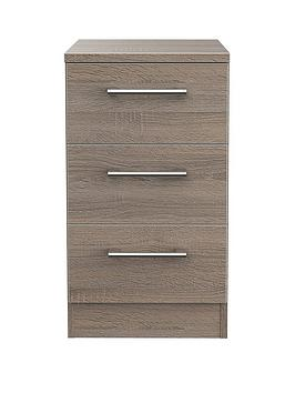 Swift Swift Halton Ready Assembled 3 Drawer Bedside Chest With Wireless  ... Picture