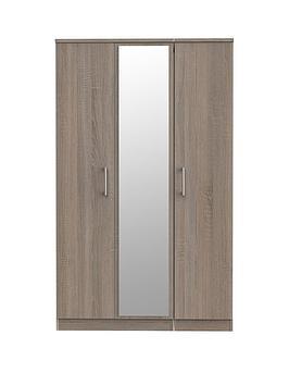 Swift Swift Halton Part Assembled 3 Door Mirrored Wardrobe Picture