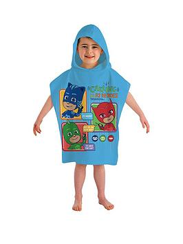 PJ MASKS Pj Masks Calling All Heroes Hooded Poncho Towel Picture