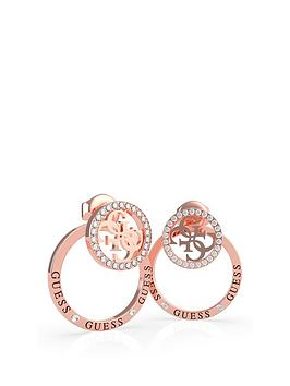 guess-circle-pave-stud-earrings