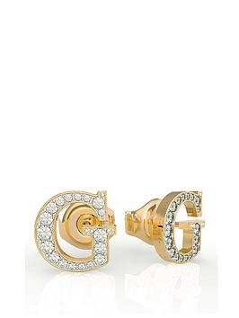 Guess Guess G Logo Pave Crystal Stud Earrings Picture