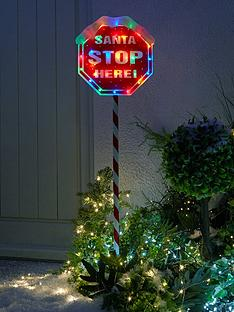 festive-indooroutdoornbsp110nbspcm-santa-stop-herenbspsign-with-multi-coloured-lights