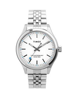 Timex Timex Timex Waterbury Neon Heart Silver Bracelet Watch Picture