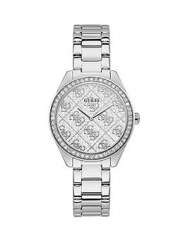 Guess Guess Guess Sugar Crystal Silver Glitz Logo Dial Bracelet Watch Picture