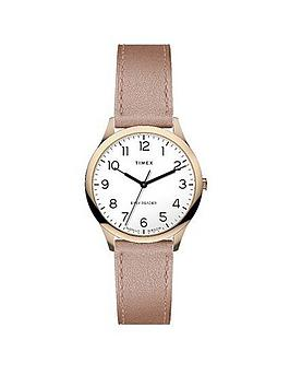 Timex Timex Timex Easy Reader 32Mm Rose Gold Leather Strap Watch Picture
