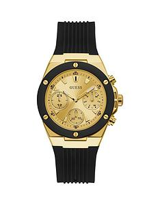 guess-guess-athena-gold-dial-black-silcone-strap-womens-watch