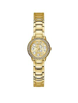 Guess Guess Guess Gem Crystal Dial Gold Bracelet Watch Picture