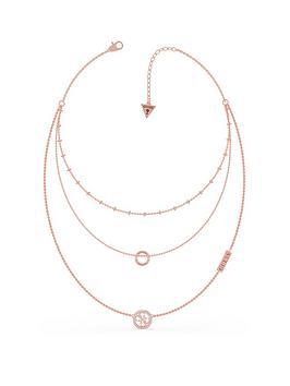 Guess Guess Triple Chain Circle Necklace Picture