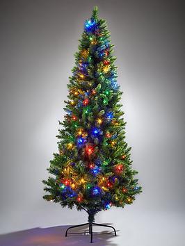 festive-delamere-6ft-pre-lit-colour-changing-slim-tree
