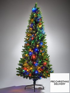 festive-delamere-7ft-pre-lit-colour-changing-slim-tree