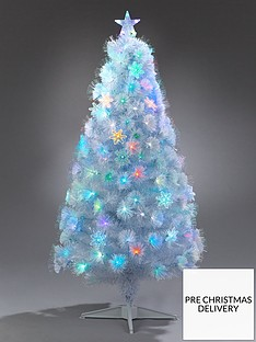 festive-5ft-white-fibre-optic-christmas-tree-with-star-topper