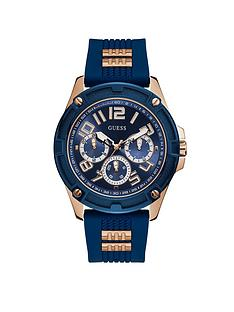 guess-guess-delta-rose-gold-and-blue-mens-silicone-strap-watch