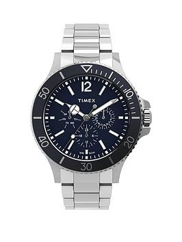 Timex Timex Timex Harborside Multifunction 43Mm Stainless Steel Blue Dial  ... Picture