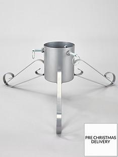 festive-58-cm-silver-metal-christmas-tree-stand