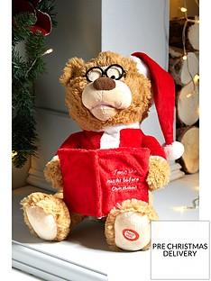 festive-27nbspcm-battery-operated-story-telling-christmasnbspbear