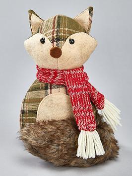 festive-plush-fox-door-stop-christmas-decoration