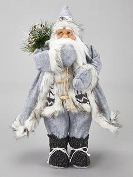 festive-45-cm-grey-standing-santa-with-sack