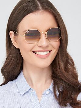 ray-ban-hexaganol-sunglasses-gold