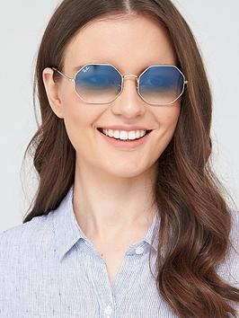 Ray-Ban Ray-Ban Hexaganol Sunglasses - Silver Picture