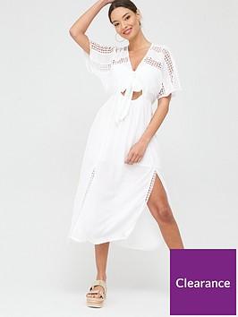 river-island-tie-front-button-beach-midi-dress-white