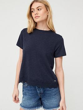 Superdry Superdry Lace Mix Tee - Navy Picture