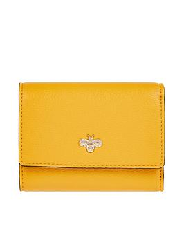 Accessorize   Bee Charm Kate Wallet - Yellow