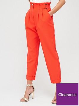river-island-peg-trouser-red