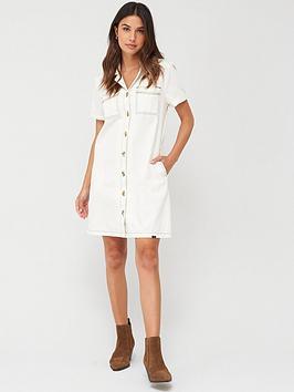 superdry-kaya-utility-shirtdress-white